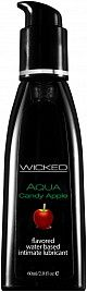 Лубрикант с ароматом сахарного яблока Wicked Aqua Candy Apple - 60 мл.